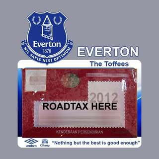Road Tax Sticker EPL Series - EVERTON