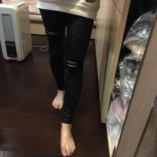 正韓顯瘦皮褲