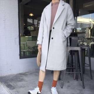 正韓 質感羊毛大衣外套