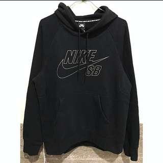 Nike 黑色反光logo保暖刷絨帽T