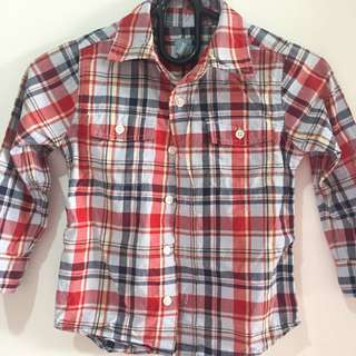 Baby Gap Red Checkered Longsleeve