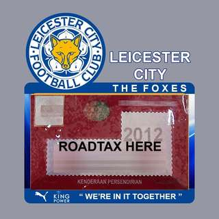 Road Tax Sticker EPL Series - LEICESTER CITY