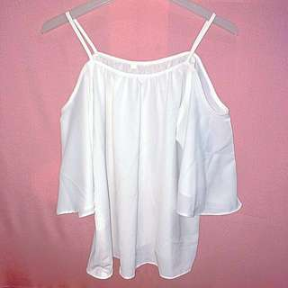 Offshoulder / Tank Top - White