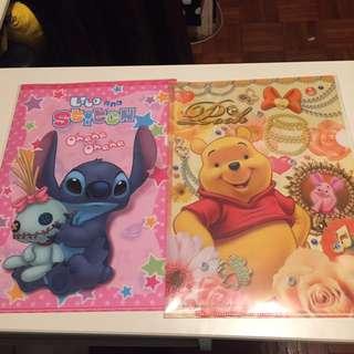 Stitch Winnie the Pooh A4 Folder