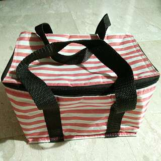 Small Striped Cooler Bag