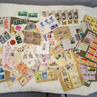 Asst postmarked stamps