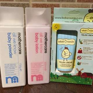 Baby powder& baby lotion Mother care