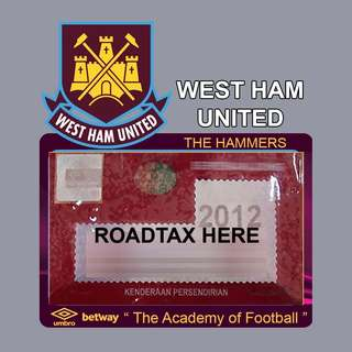 Road Tax Sticker EPL Series - WEST HAM UNITED