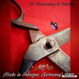 1950s Made in Solingen or Germany Dress-making Scissors ($20), 2pcs Rare Brass Tailoring Making Rollers ( each $20) and Barber Scissors ($10). Working condition. All 5 items for $38 Clearance offer! sms 96337309.