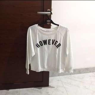 White sweater size L