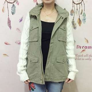 Korean Knit Military Jacket