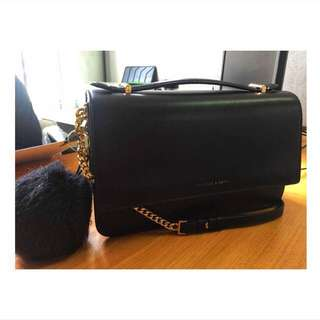 Authentic Charles and Keith Sling Black Bag
