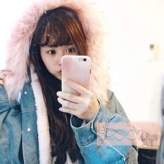 🚚 自留推薦✨附實拍照❗️超美質感超好🔥韓版暖暖爆毛牛仔外套