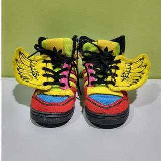 RARE Adidas Originals Jeremy Scott Kids Wings Rainbow UK 6K @ US 6 1/2K