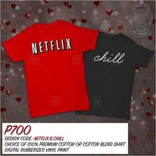 Matching Couple Shirt - Netflix and Chill