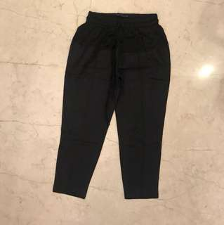 ZARA Black Pants with Elastic Waist