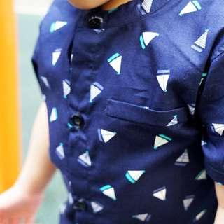 CNY Sailboat Mandarin Collar Shirt (1 - 6Y)