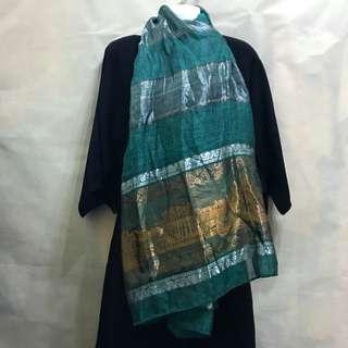 絲綢配件圍巾(綠)