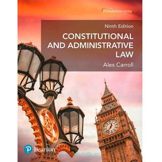 Constitutional and Administrative Law 9th Edition