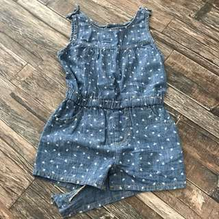 Fox Denim Romper For 1-2yrs Old Baby/ Toddler Girl