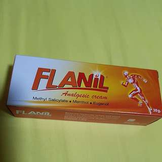 BN FLANIL ANALGESIC CREAM. RELIEVES MUSCLE ACHES & PAIN.