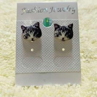 貓咪耳環 貓咪耳針 仿真耳環