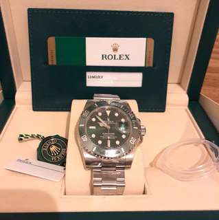 NEW & AUTHENTIC 11610LV Rolex Green Submariner '綠水鬼'