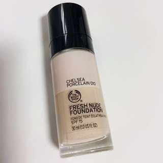 Body Shop Foundation (Fresh Nude Chelsea Porcelain SPF15)