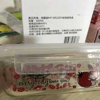 My Melody玻璃食物盒