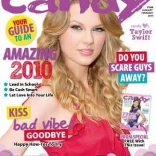 BUYING! Any magazine that featured Taylor Swift as a cover