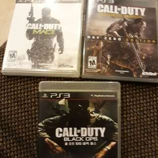 3 in 1 COD (PS3) (Original) nego