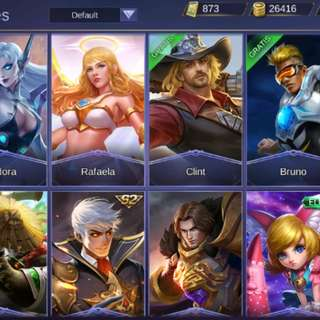 Akun Mobile Legends lvl. Max
