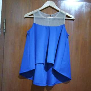 Peplum biru import bangkok