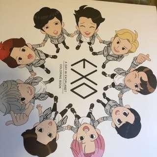 EXO官方填色簿