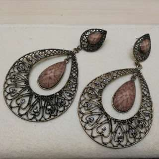 Large Copper Statement Earrings