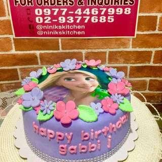 "Rapunzel Themed Cake 8"""