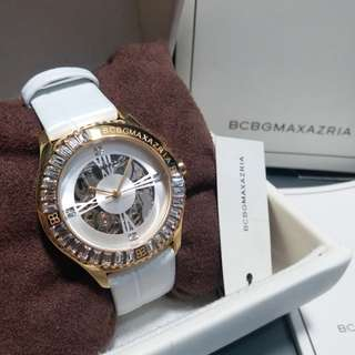 Auth and brand new BCBG MAXAZRIA 上鏈機械錶 Automatic Watch BG6330