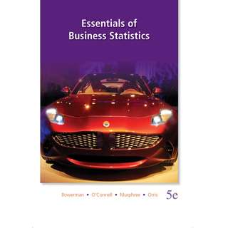 Essentials of Business Statistics (5th Ed)