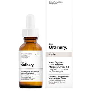 [Authentic] The Ordinary 100% Organic Cold-Pressed Moroccan Argan Oil
