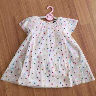 New pretty colorful dots pink dress