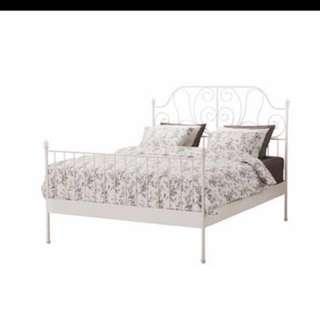 FULL BED FRAME IKEA LEIRVIK