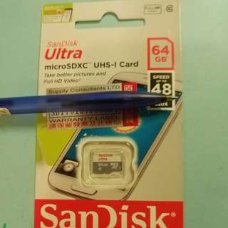 SanDisk 64GB 快速 MicroSD card
