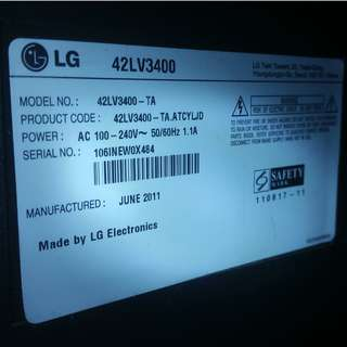 42 inches Plasma TV - Used