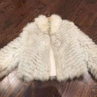 Rare Blue Fox Fur Coat