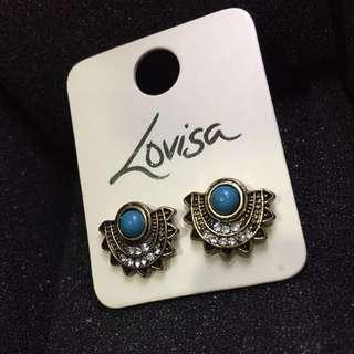 Lovisa  Half Disc Stone Earrings