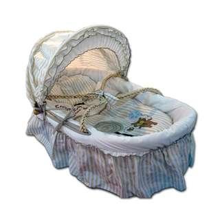 Preloved Bumble Bee Natural Moses Basket