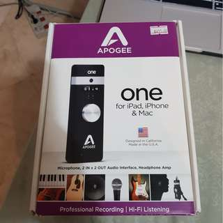 Selling - Apogee One for iPad, iPhone, and Mac