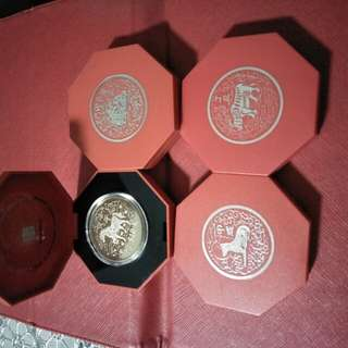 4pc of zodiac $10 CNY coins