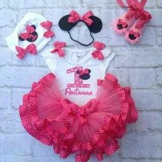 Minnie Mouse Birthday Dress Set