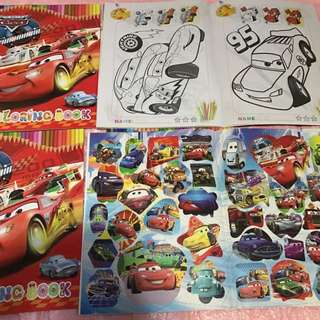 Instock A4 mc Queen Coloring And Stickers Book Brand New
